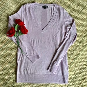 The limited v neck purple sweater